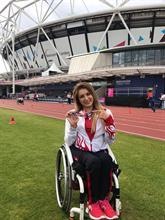 Engelli Sporcu Hamide Kurt Dünya 3'üncüsü oldu