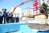 Bağcılar'da Bahçesinde Oyun Parkı Olacak Caminin Temeli Atıldı