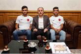 Avrupa Şampiyonu Engelli Futbolcular Başkan Lokman Çağırıcı'yı Ziyaret Etti