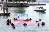 Engelliler 30 Ağustos Zafer Bayramı'nı Su Altında Kutladı