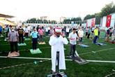 Bağcılar'da Bayram Namazı Stadyumda Kılındı