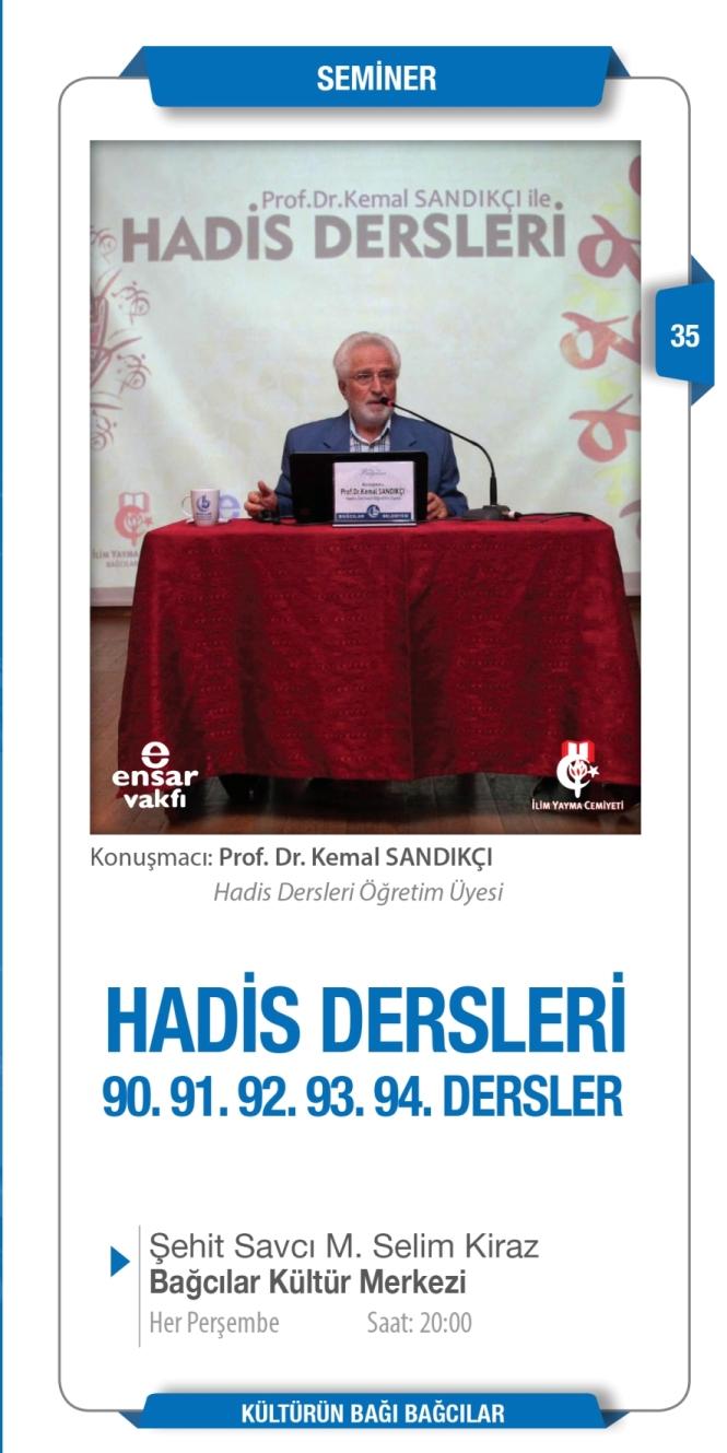 Prof.Dr.Kemal SANDIKÇI ile Hadis Dersleri
